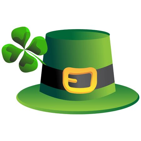 brim: An image of a leprechaun four leaf clover St. Patricks Day hat.