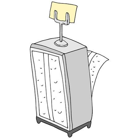 An image of a retro napkin holder reservation card holder.