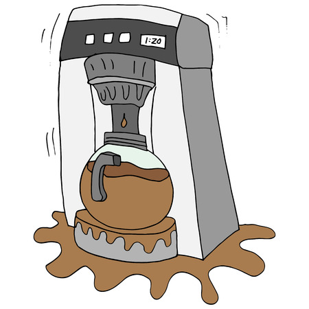 An image of a broken coffee maker.