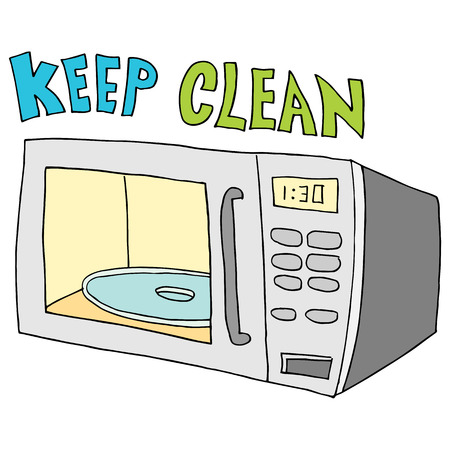 An image of a  keep microwave clean. Ilustrace