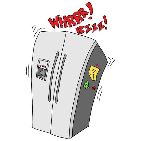 冷蔵庫が壊れてレトロのイメージ。