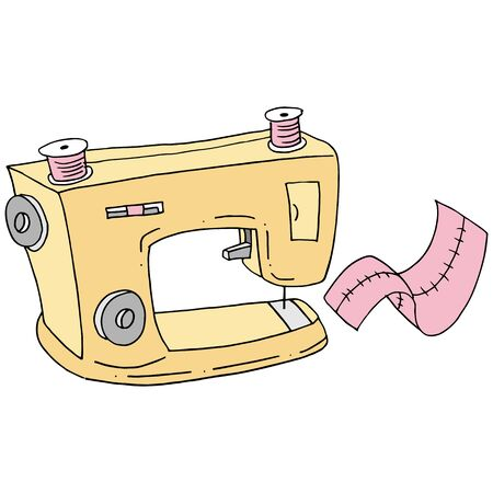 An image of a retro sewing machine.