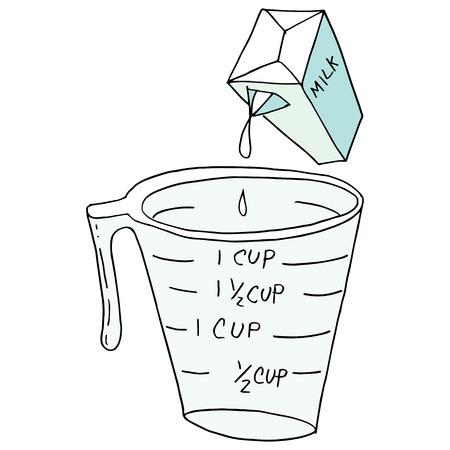 레트로 측정 컵의 이미지입니다.