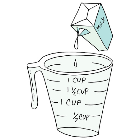 An image of a retro measuring cup. 向量圖像