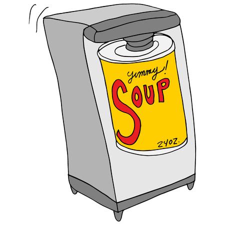 복고풍 전기 캔 오프너의 이미지.