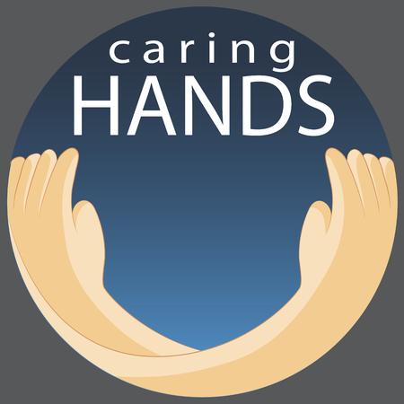 思いやりのある手シンボルのイメージ。