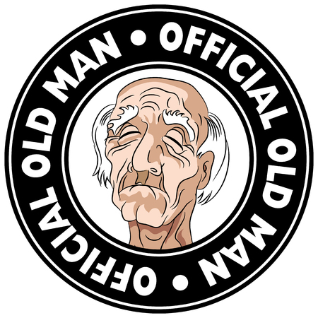 An image of an Old Geezer Icon. Stock Illustratie