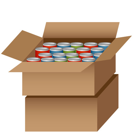 An image of a Canned Food Drive bag. Ilustrace