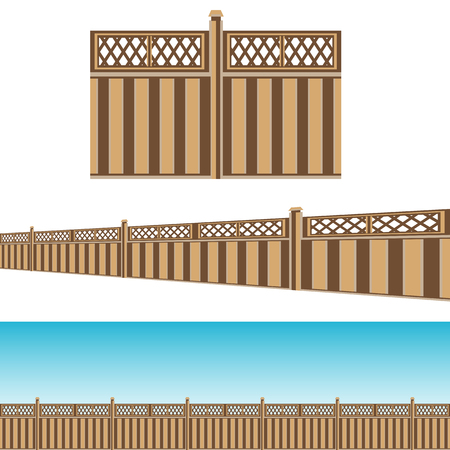 An image of a Privacy Fence property line Pattern Set.