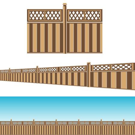 An image of a Privacy Fence property line Pattern Set.