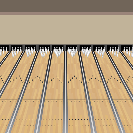 An image of a Bowling Alley Lane Pins Game background.