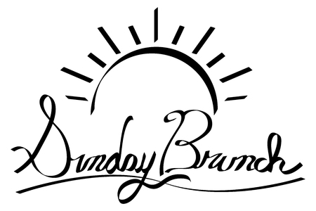 An image of a Sunrise Sunday Brunch Calligraphy. Made using pen tablet and brush tool.