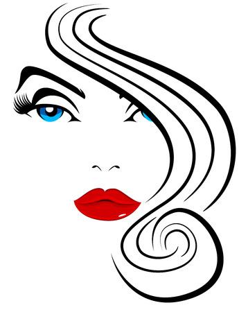 Een afbeelding van mooie vrouw Model Hair Fashion geïsoleerd op wit. Stockfoto - 94694338