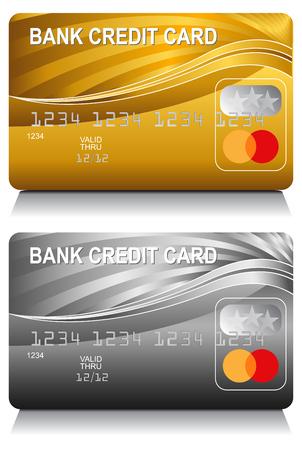 An image of a bank credit card energy wave pattern set. Ilustração