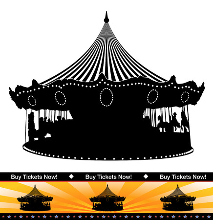 An image of a carousel ride silhouette.