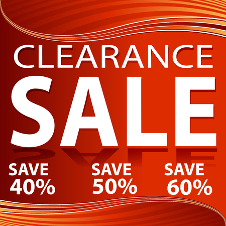 An image of a red clearance sale red energy wave background with transparent layers.