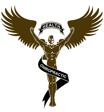 An image of a Chiropractic Health Gold Angel Man isolated on white.