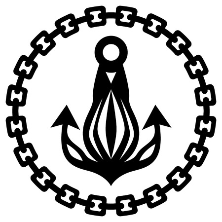An image of a nautical ship anchor chain silhouette.