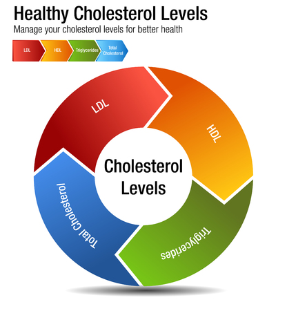 An image of a Total Blood Cholesterol HDL LDL Triglycerides Chart.