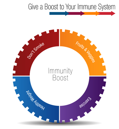 Boost and strengthen your immune system chart concept illustration. Vectores
