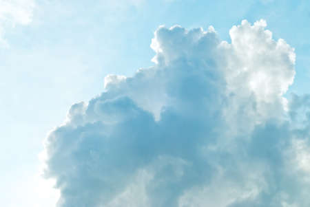 cumulus cloud on the blue sky in sunny day photo