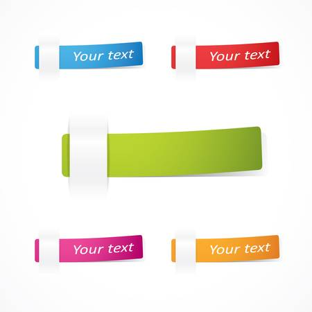 set of multicolored notes Illustration