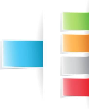 Vector multicolored tag label