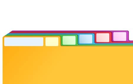 index card: multicolored archive bookmarks of card index