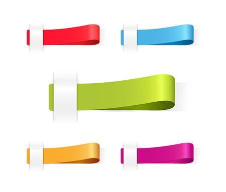 multicolored tag labels
