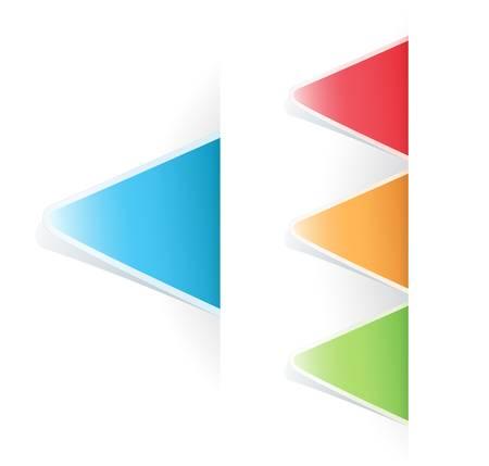 set of multicolored Tag triangular Label Stock Vector - 9433156