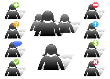set of vector website members icons Stock Vector - 9523967