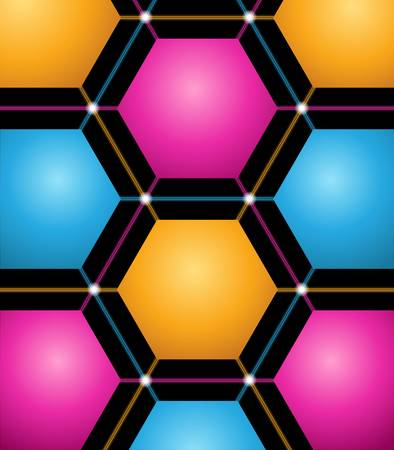 vector abstract background with colored hexagons Stock Vector - 9578962