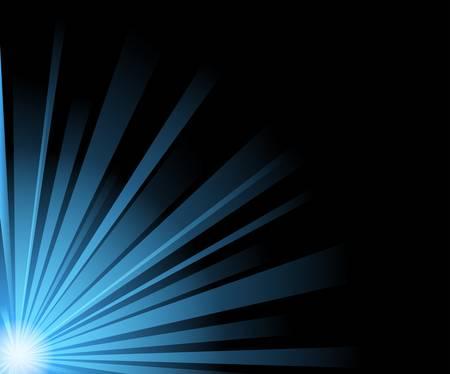 vector abstract illustration of blue light beams on black Stock Vector - 9578969