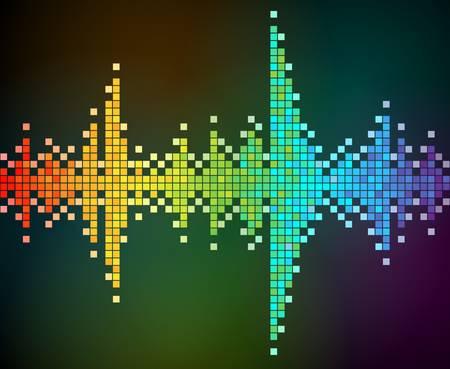 abstracte achtergrond van de regenboog gekleurd mozaïek. EPS 10.