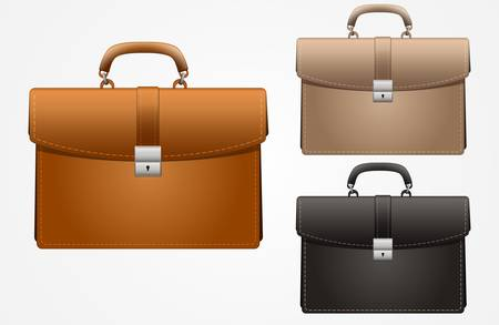 currying:  multicolored business briefcase