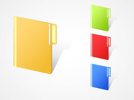 textfield: set of multicolored full closed folders with textfield. EPS10.