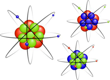 vector illustration of atom Vector