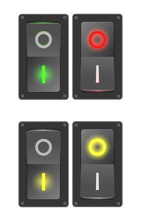 illustration of switches (ON/OFF) Vector