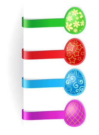 Vector illustration of easter bookmarks Vector