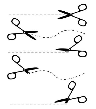 hair cutting: vector illustration of scissors
