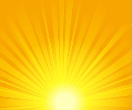 sunshine: ilustraci�n vectorial de rayos de sol