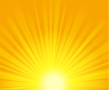 yellow background: vector illustration of sunburst