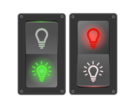 Vector illustration of switches (ON/OFF) Stock Vector - 13119823