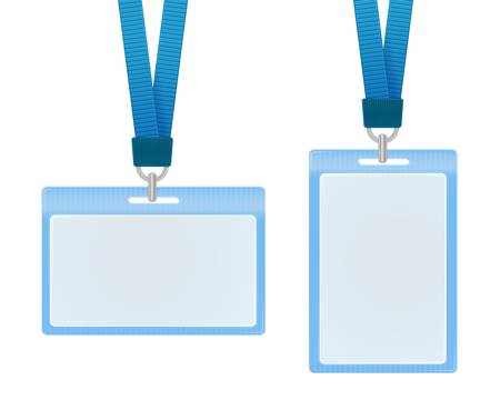 name tags: Vector illustration of identification cards