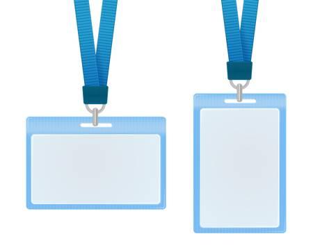 autorizacion: Vector ilustraci�n de tarjetas de identificaci�n Vectores