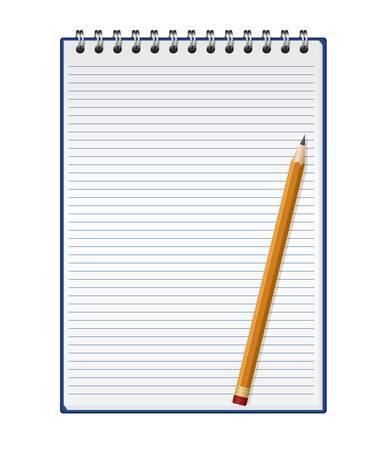 Bloc-notes avec un crayon