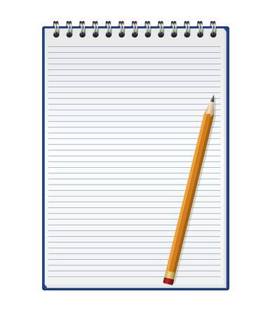 pad and pen: Notepad with pencil
