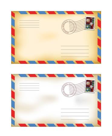 vector illustration of old fashioned envelopes Stock Vector - 13652742