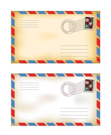 vector illustration of old fashioned envelopes Illustration