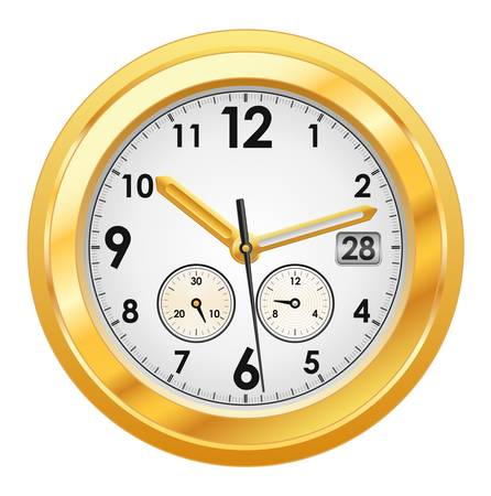 illustration of gold watch  Vector